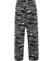 balenciaga printed all-over trousers