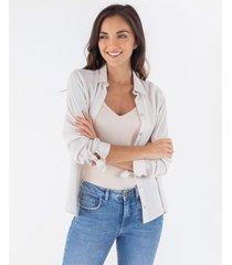 camisa mini rayas puños anudados