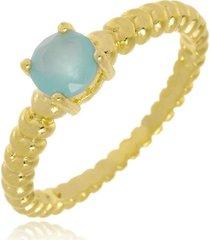 anel brenda redondo ácqua marinne di capri semi jóias x ouro incolor