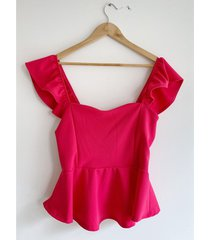 top fucsia circe peplum