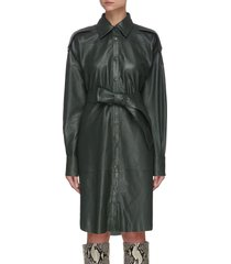 'lavare' belted leather dress