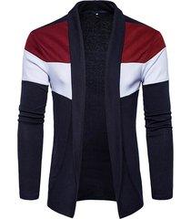 mens autunno inverno a maglia colpo a colori maglione a righe maglia a scomparsa cardigan casual
