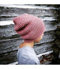 czapka 65% wełna 35% alpaka #rożowy