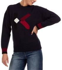 maglione maglia donna girocollo k logo