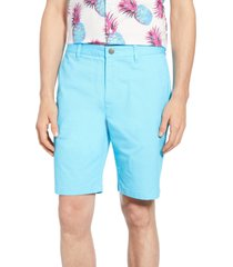 men's bonobos stretch washed chino 9-inch shorts, size 35 - blue