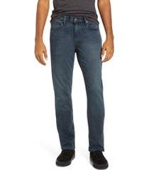 men's paige transcend federal slim straight leg jeans, size 35 x 34 - blue