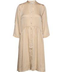 u6045, woven dress on knee jurk knielengte beige saint tropez