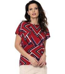 blusa bisô decote etnico feminino