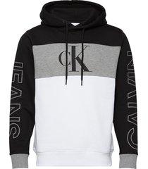blocking statement logo hoodie hoodie trui zwart calvin klein jeans
