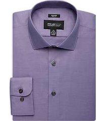 awearness kenneth cole purple slim fit dress shirt