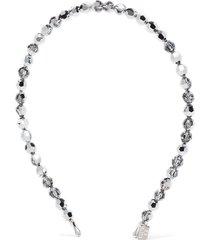gigi burris millinery sunbeam bead headband - silver