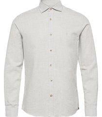 alton spread collar skjorta casual grå morris