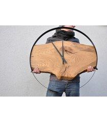 zegar loft - dębowy - 80 cm