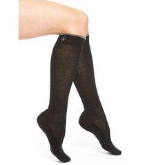 women's smartwool merino wool blend knee high socks, size small - black