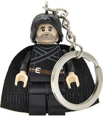 sa 1 pc jon snow game of thrones figure keychain keys ring minifigure blocks leg