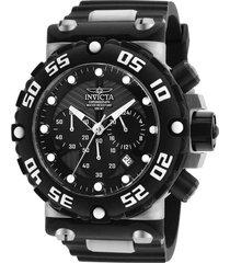 reloj invicta negro, acero modelo 250ci para hombres, colección subaqua