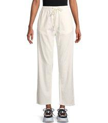 rag & bone women's drawstring ankle-crop denim pants - off white - size m