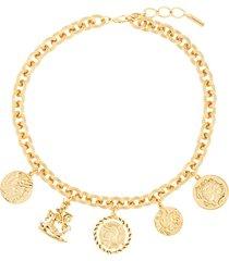 jennifer behr romulus short necklace - gold