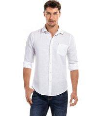 camisa lino blanco new man
