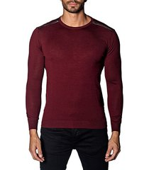 trim-fit zip-detail lightweight sweater