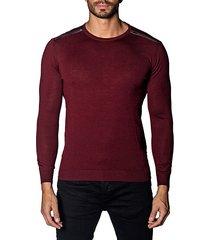 trim-fit zip-detail lightweight sweater