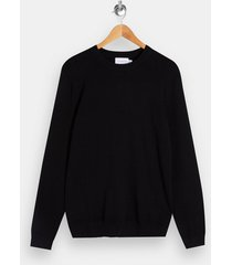 mens black essential knitted sweater