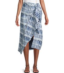 midi wrap cover-up skirt