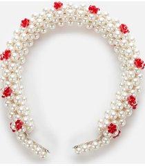 shrimps women's nelly headband - cream/red