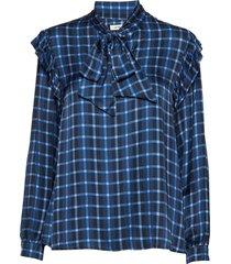 dimitri shirt blus långärmad blå nué notes