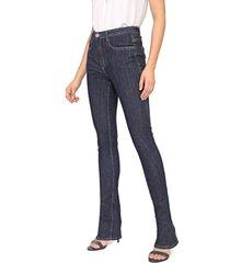 calça jeans my favorite thing(s) bootcut pespontos azul