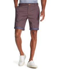 tallia men's modern-fit stretch houndstooth check shorts