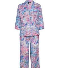 lrl notch collar pj set 3/4 sl pyjamas lila lauren ralph lauren homewear