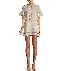 collins tassel mini dress