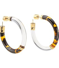 fendi couple earrings - brown
