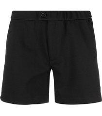 ron dorff buttoned tennis shorts - black