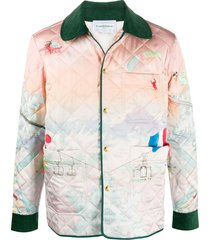 casablanca quilted tie-dye jackets - white