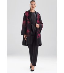 natori compact knit crepe beaded caban jacket, women's, size s