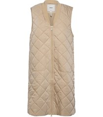 objmaggie waist coat 113 .c vests padded vests crème object