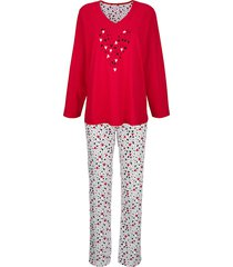 pyjama comtessa rood::wit::zwart