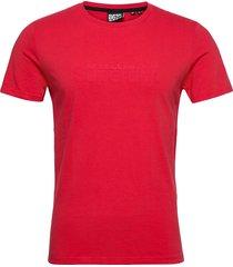 core logo tonal tee t-shirts short-sleeved röd superdry