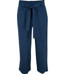 pantaloni culotte in viscosa con cintura (blu) - bpc bonprix collection