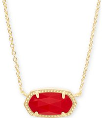 "kendra scott stone pendant necklace, 15"" + 2"" extender"