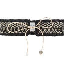 forte forte string fastened belt - black