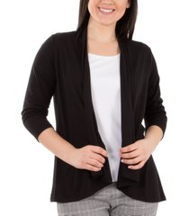ny collection petite open-front cardigan