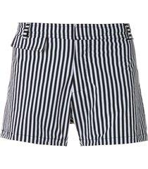 amir slama striped tactel swim shorts - white