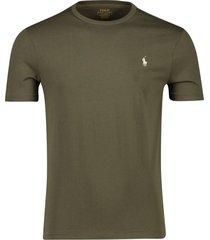 olijfgroen t-shirt ralph lauren custom slim fit