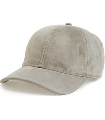 women's rag & bone marilyn suede baseball cap - grey