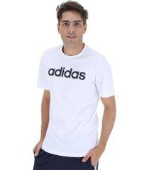 camiseta adidas essentials linear tee - masculina - branco