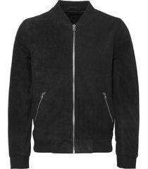 human scales black double texture suede russel jacket ja170131