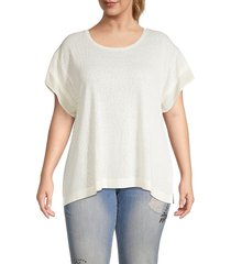 b collection by bobeau women's plus madeline kimono sleeve t-shirt - rosewater - size 2x (18-20)